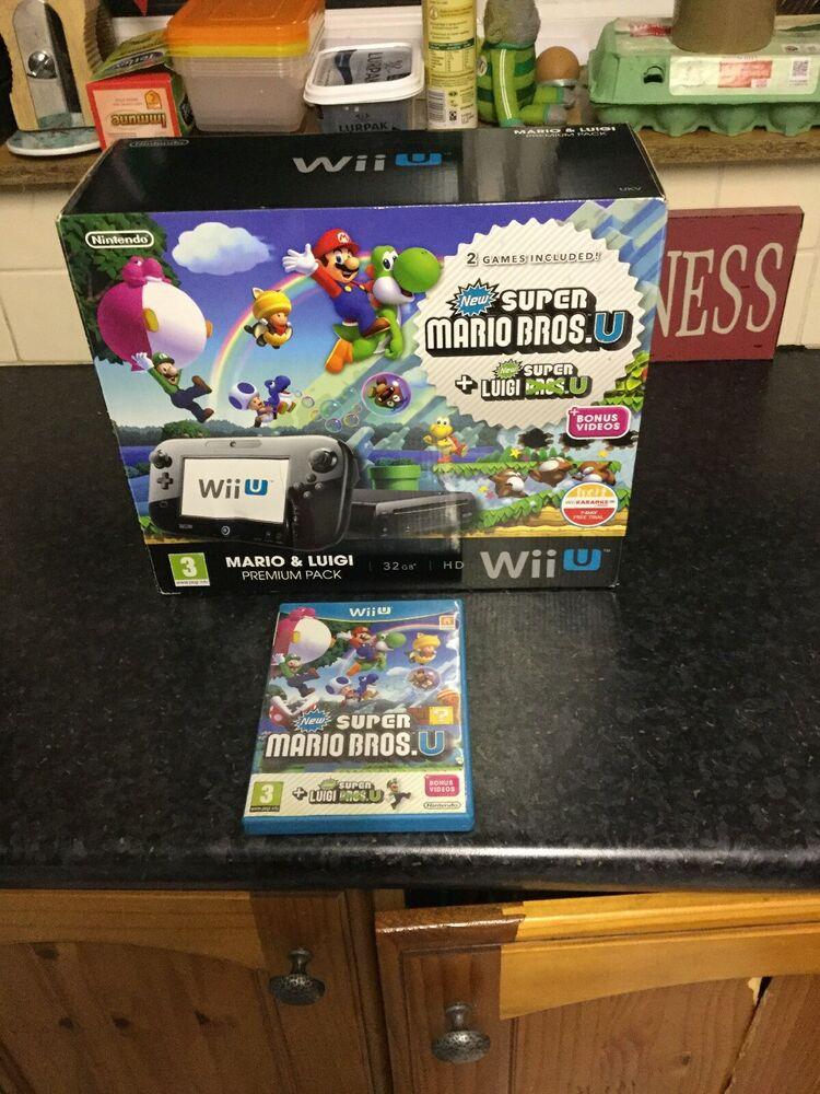 Nintendo Wii U and Super Mario & Luigi 32GB Complete Console