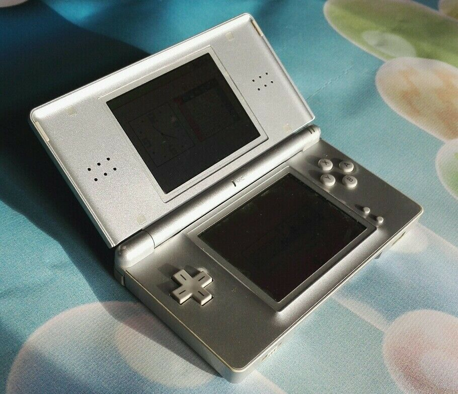 Rare Official Nintendo DS Lite Silver Handheld Console DS