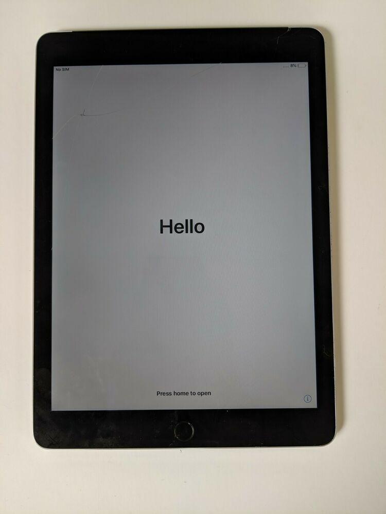 Apple iPad Air 2. 64GB, Wi-Fi + Cellular (Unlocked), 9.7in -