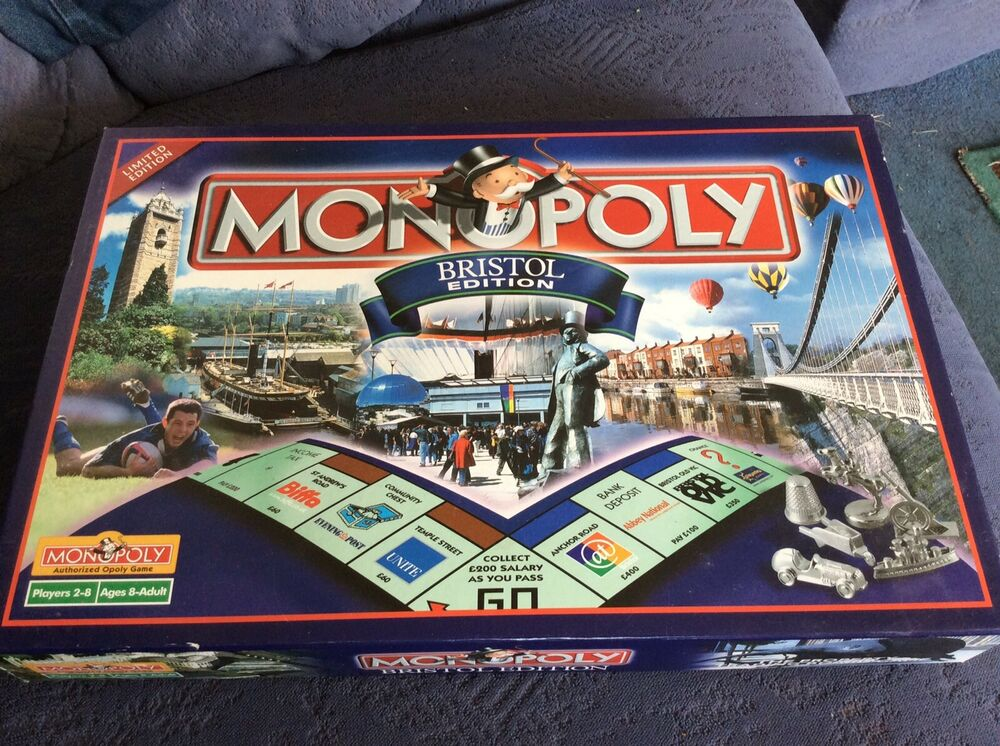 Boxed, Complete Game Of Monopoly. Bristol Edition