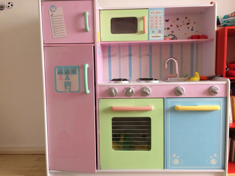 Kidkraft Deluxe Culinary Kitchen Pastel Wooden Play Set for