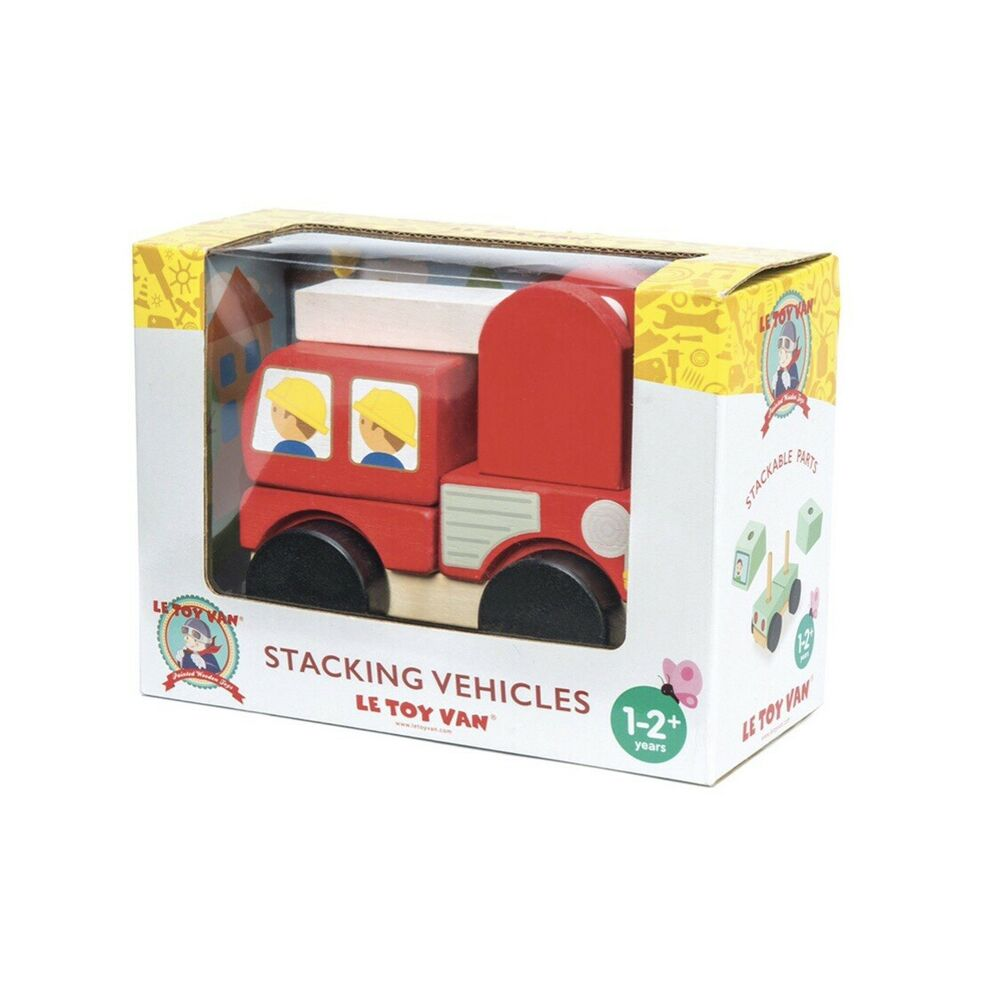 Le Toy Van Red Wooden Fire Engine Stacker