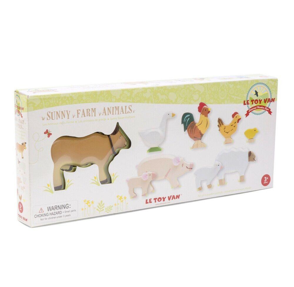 Le Toy Van Wooden Sunny Farm Animals