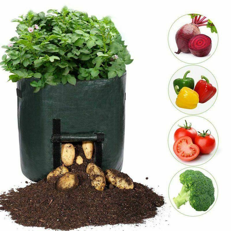 Plant Bags, 7 Gallon Grow Bags Heavy Duty Breathable Plant