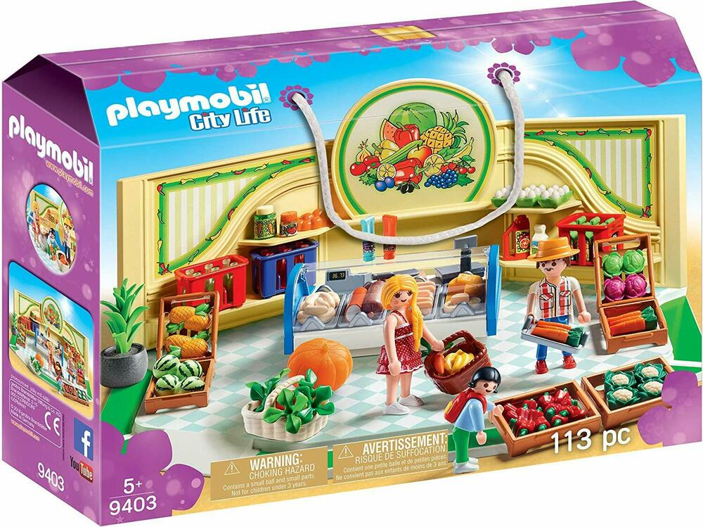 Playmobil  City Life Grocery Shop with Fridge Counter