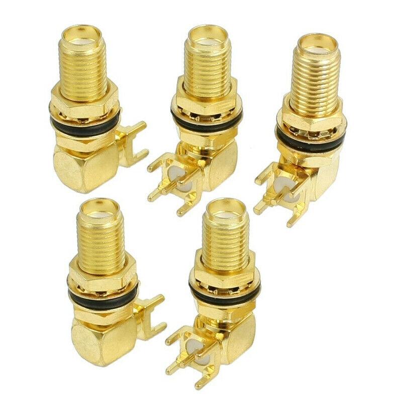 5 Pcs SMA Female Jack Panel Mount PCB Solder Connectors