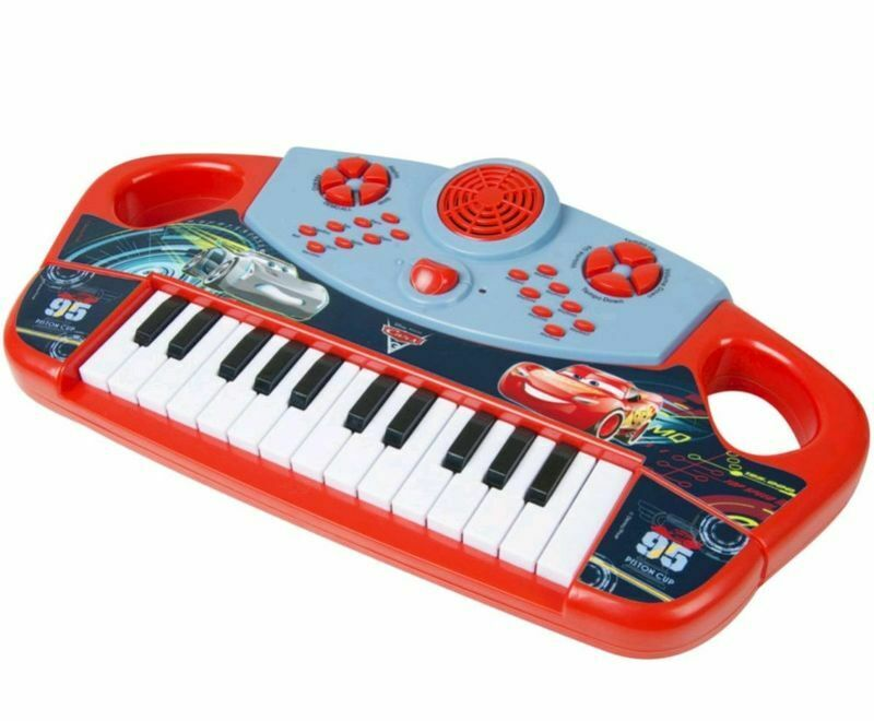 Disney Pixar Cars 3 Large Electric Keyboard Piano For Kids