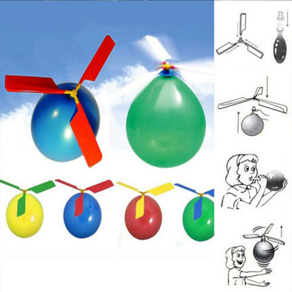 Funny Balloon Helicopter Flying Outdoor Playing Educational