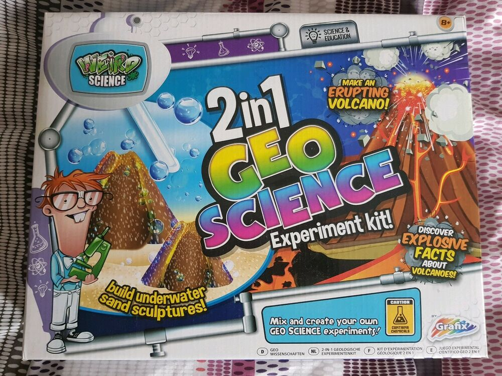 Grafix Weird Science 2 in 1 Geo Science Experiment Kit Age