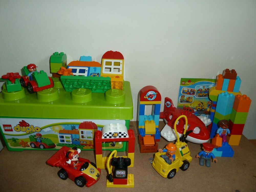 LEGO DUPLO  ALL-IN-ONE BOX OF FUN +  AIRPORT