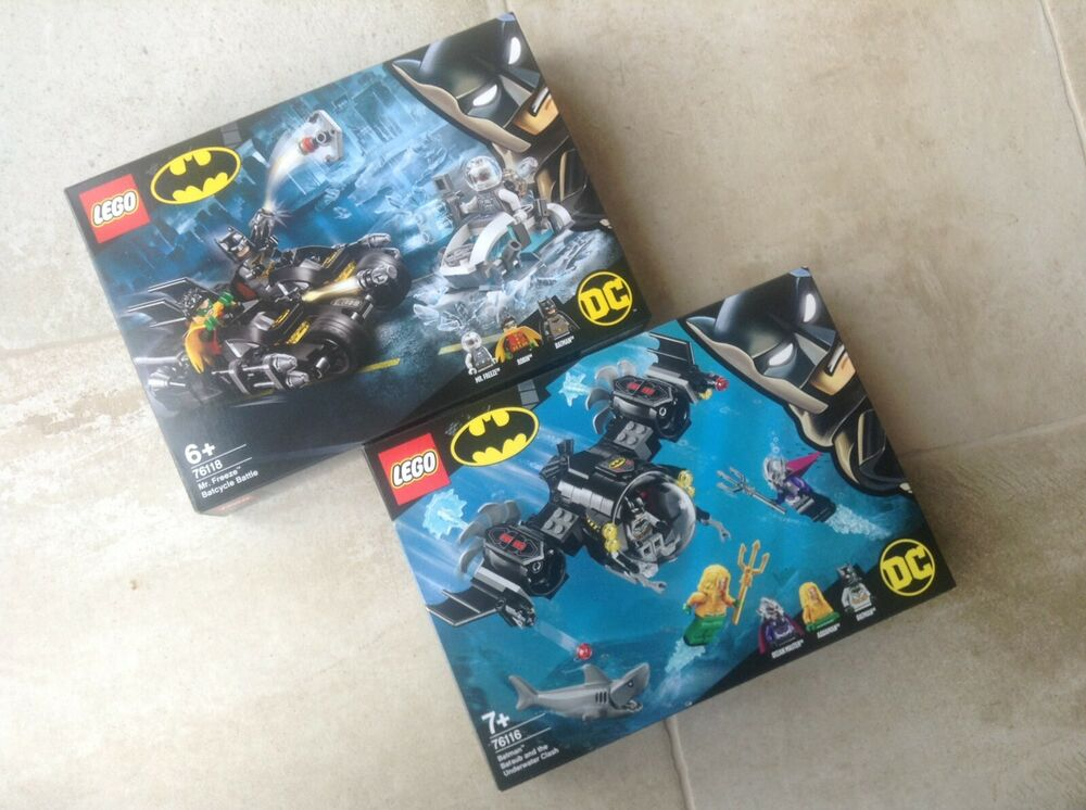 Lego Batman  Mr Freeze Batcycle Battle  Batsub &
