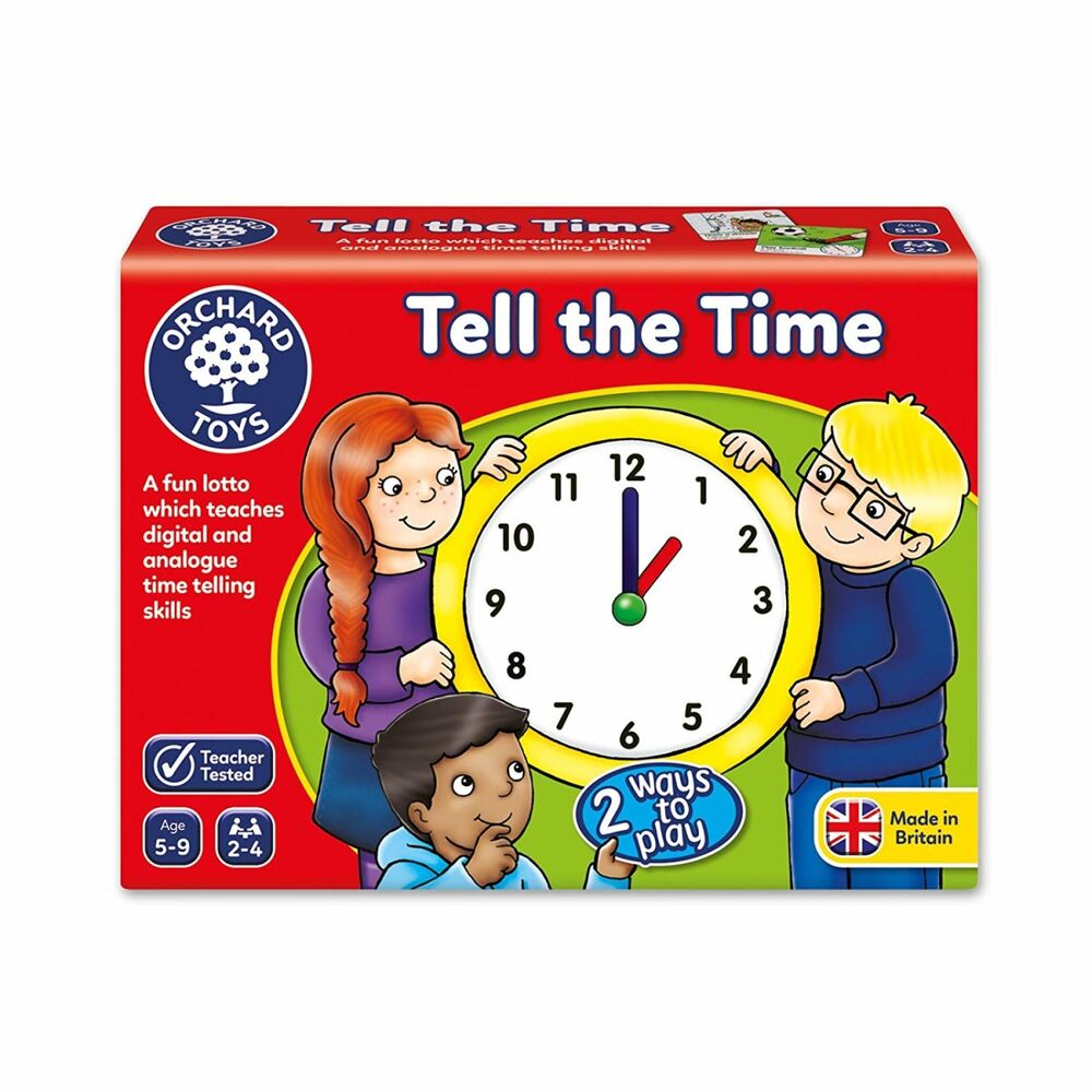Orchard Toys Tell the Time Teacher Tested Educational Game