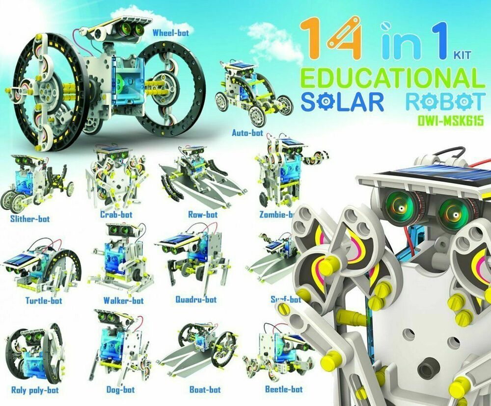 Red5 14 in 1 Educational Solar Robot Kit Build It Yourself