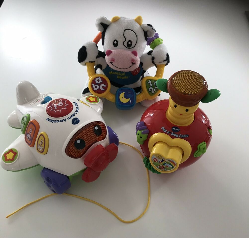 Vtech Moosical Beads Pop N Sing Apple Play And Learn
