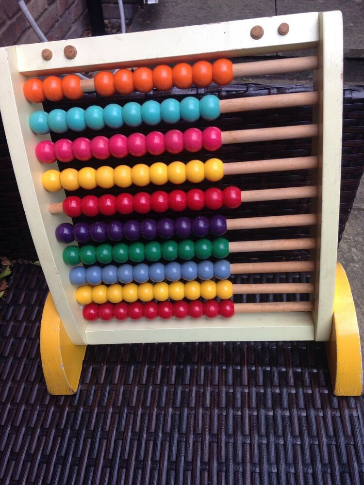 Wooden Abacus 10 Rows childrens Educational Toy