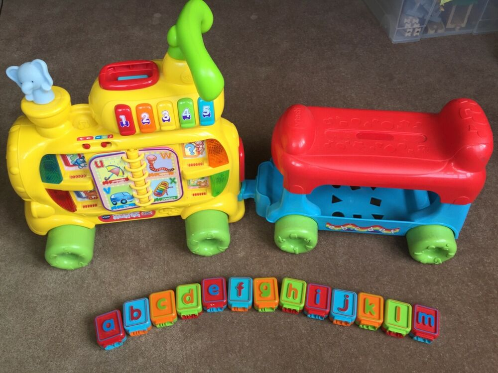 vtech push and ride alphabet train, used but good condition