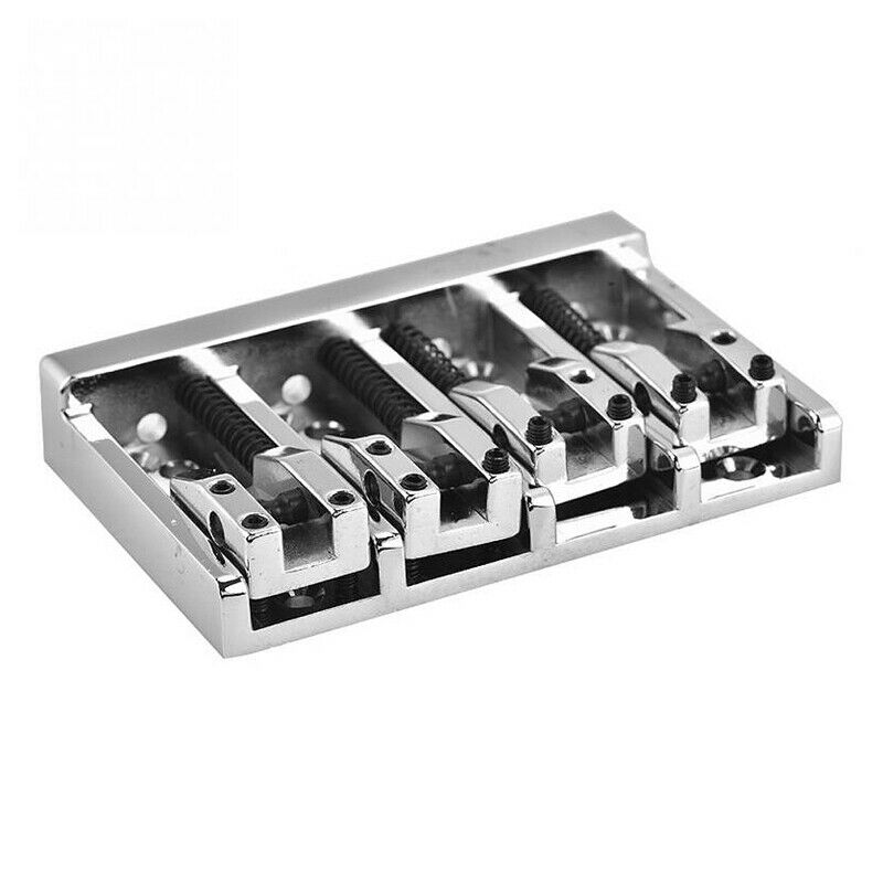 2X(84mm Metal Electric Bass Bridge Fixed For 4 String Bass