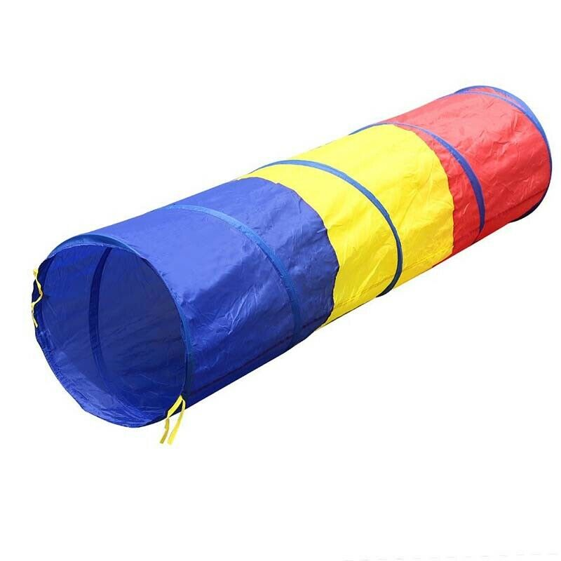 2X(Children tricolor tunnel toy tent B7L6) HJ