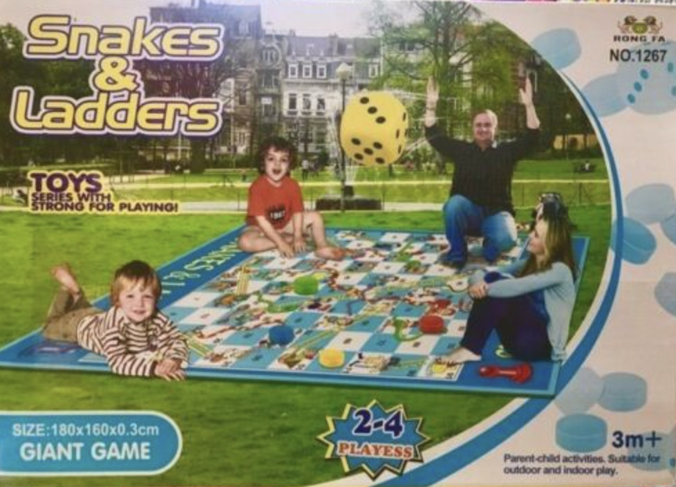 Giant Garden Snakes and Ladders Children's Outdoor Family