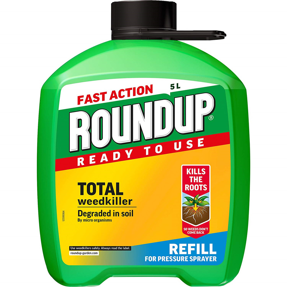 Roundup Fast Action Total Weedkiller 5L Refill
