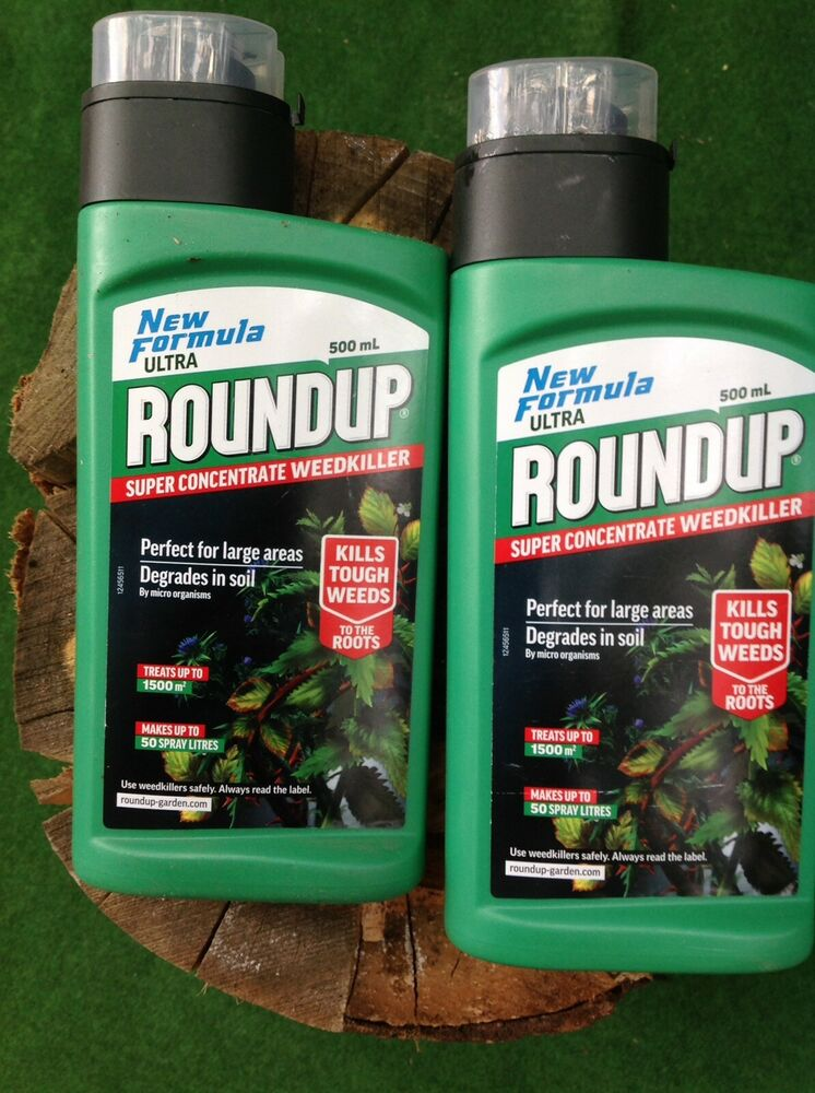 Roundup Ultra 500ml Super Concentrate Weedkiller, Green, 500