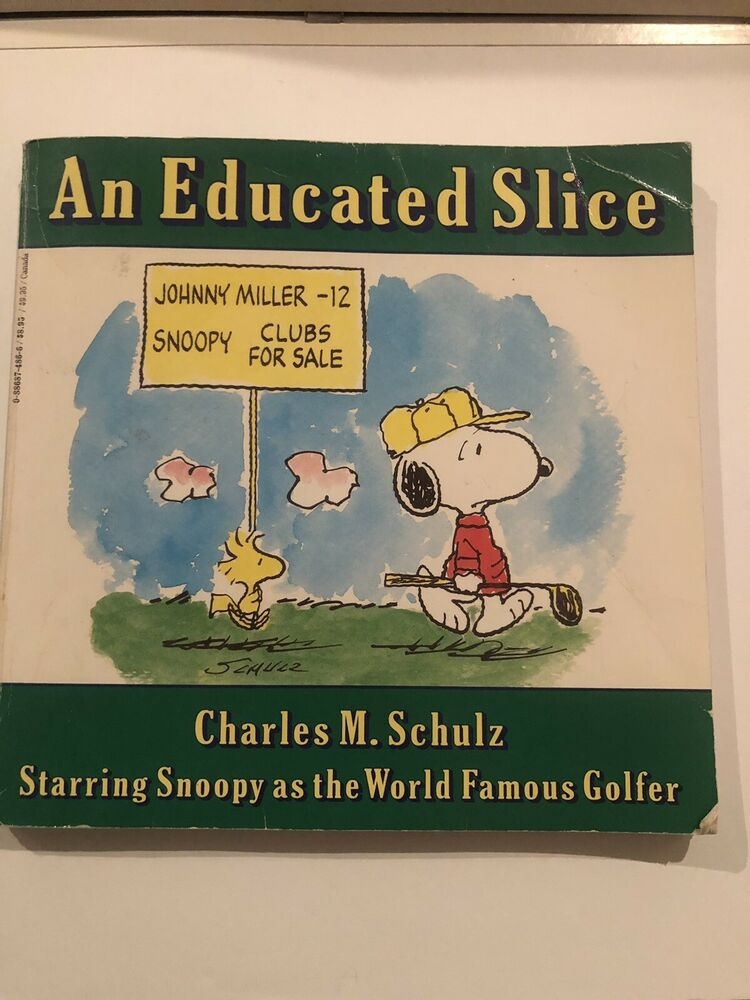 Snoopy Golf Book An Educated Slice by Charles M. Schulz