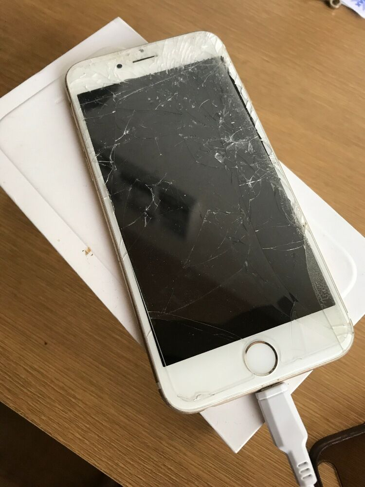 Apple A iPhone 6 16GB (Unlocked) - Gold Cracked Screen