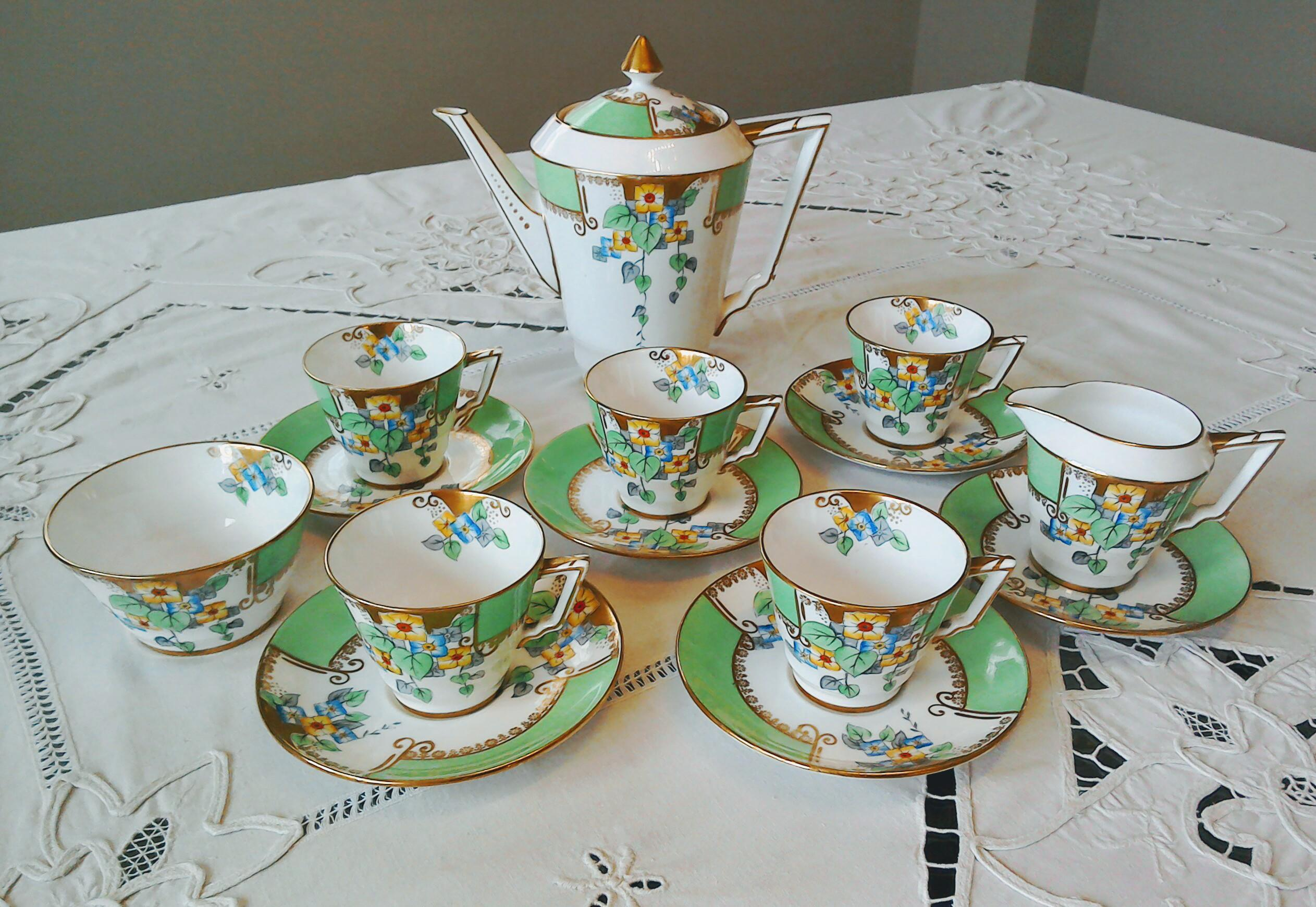 Vintage Art Deco Bell China Coffee set