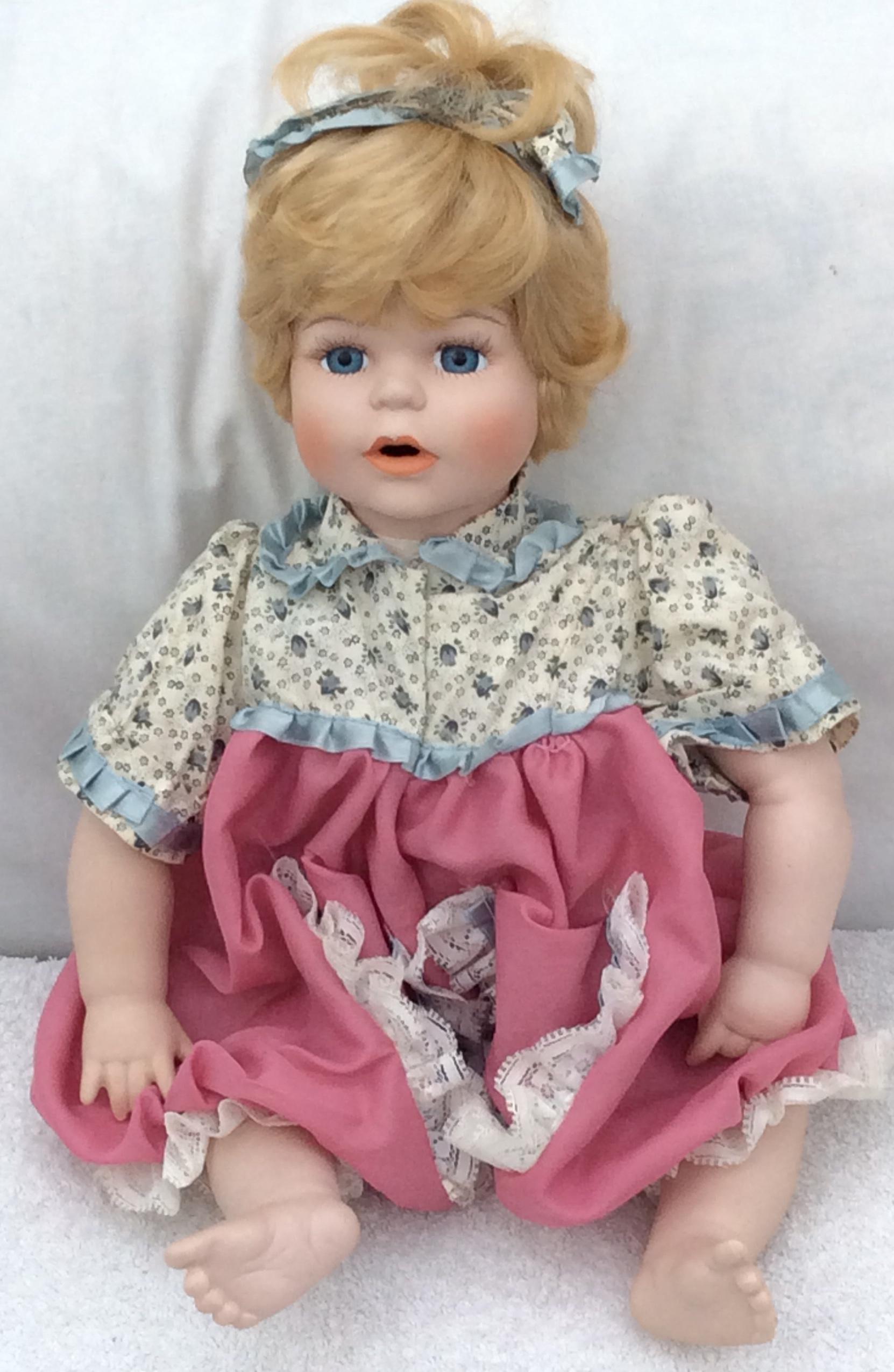 Vintage Collectable handmade porcelain doll