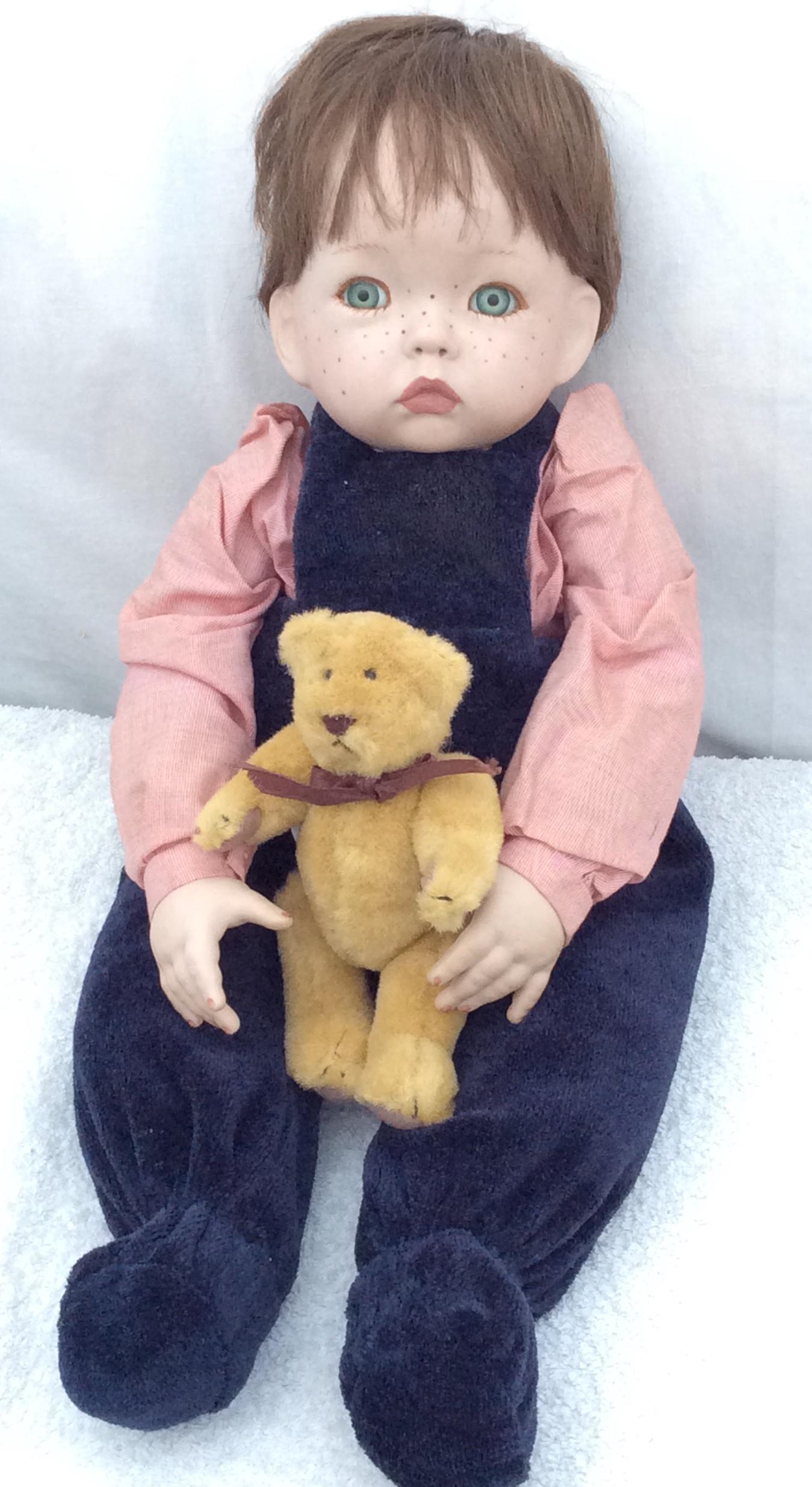 Vintage handmade porcelain doll