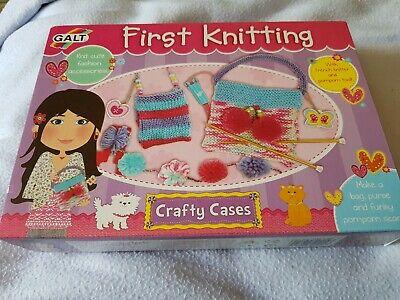 Children Crafts - Galt Toys Crafty Cases First Knitting Set