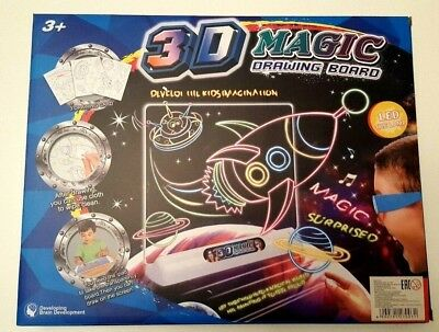 Creative Magic Drawing Board Children Toys Boys Girls Pen 3D