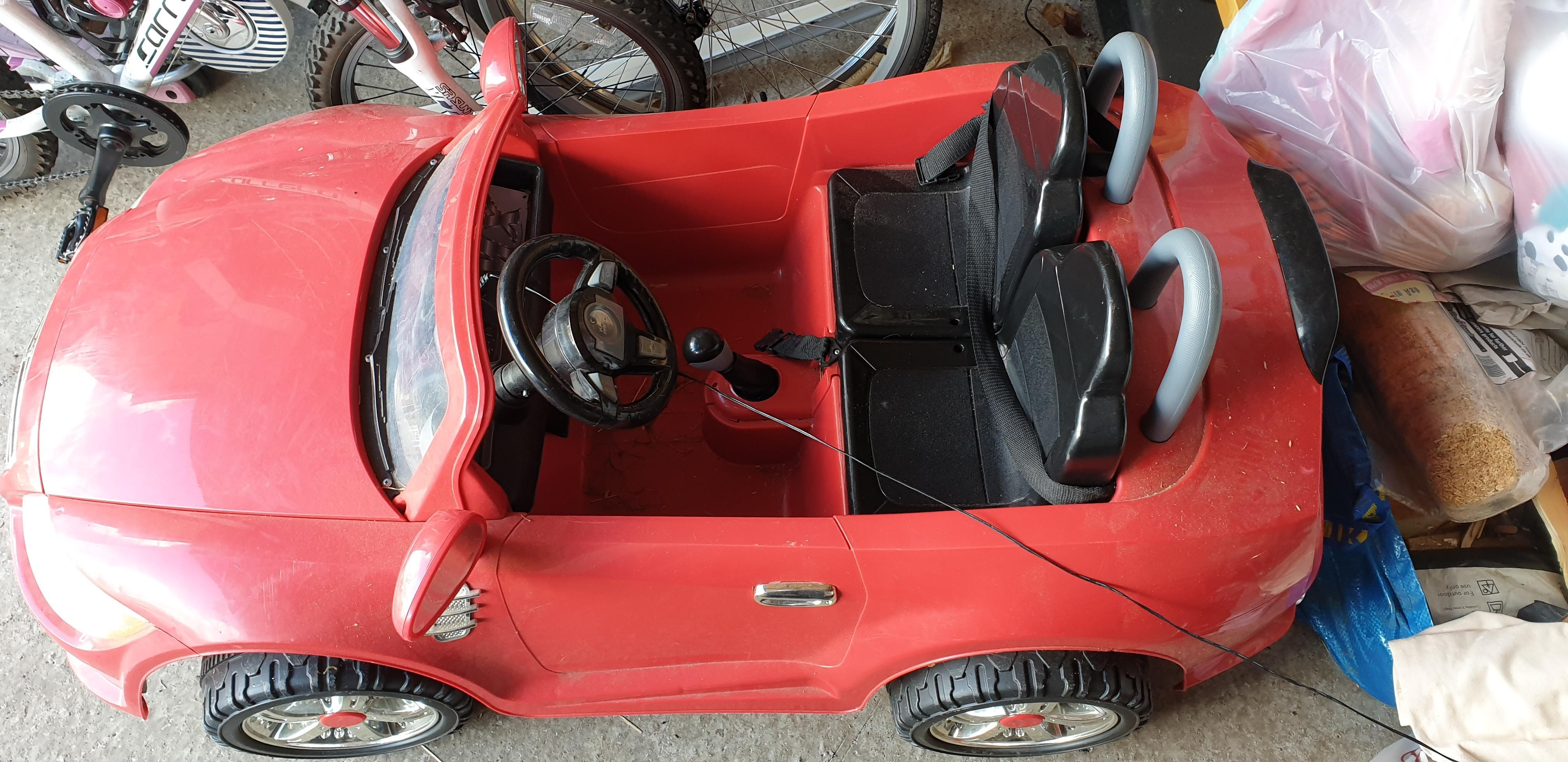 Electric car with two seats
