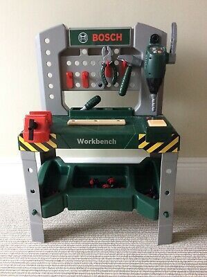 Kids Bosch Workbench Tools Play Set Children Creative