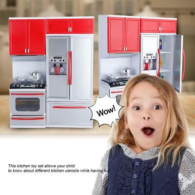 Mini Kitchen Pretend Role Play Toy Kids Girls Kitchenware