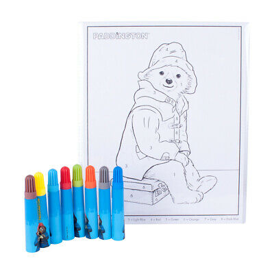 Paddington Bear Colour by Number Sheets Marker Pens Crafting