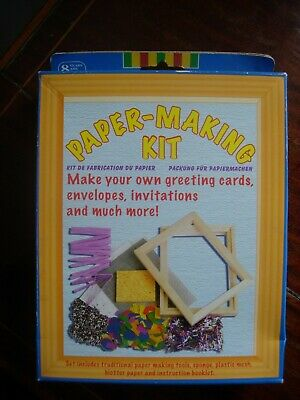 Traditional Paper-Making Kit Activity Craft Set Design Cards