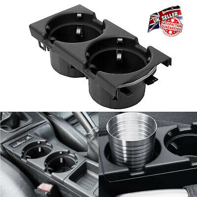 1Pcs Front Center Console Cup Drinks Holder Black For BMW 3