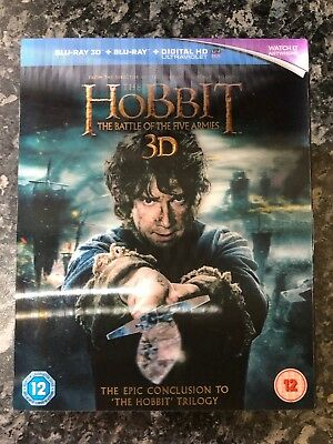 The Hobbit - The Battle Of The Five Armies 3D+2D Blu-Ray NEW