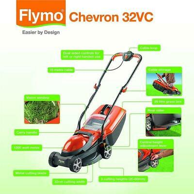 Flymo Chevron 32VC Electric Wheeled Lawn Mower,  W,
