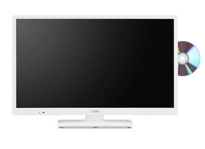 "LOGIK L24HEDW"" WHITE LED TV FREEVIEW HD TUNER HDMI"