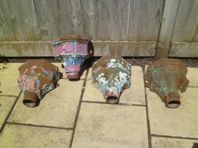 Victorian Cast Iron Rain Hoppers