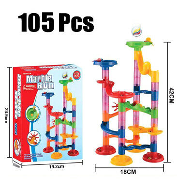 105Pcs DIY Construction Building Blocks Marble Race Run Maze