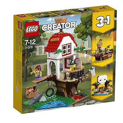 Lego  Creator 3 In 1 Treehouse Treasures Toy Ship and