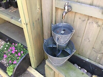 Floating Tap Outdoor Garden Water Feature With Pump And LED