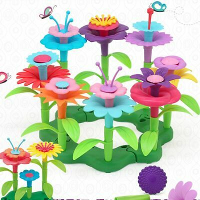Kids Toys Flower Building Toy Set, Garden Blocks Playset,