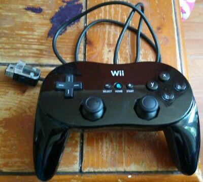 Official Nintendo Wii Classic Pro Controller black rare
