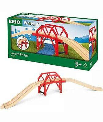 BRIO World  Curved Bridge for Wooden Train Set