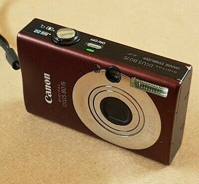 Canon IXUS 80 IS 8.0MP Digital Camera - Chocolate Brown.