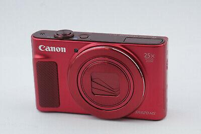 "Canon Powershot SX620 Hs 20.2MP Digital Camera - Red "" Top """